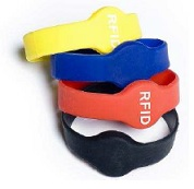 Wristband Silicone rubber 13.56Mhz high frequency RFID Tag