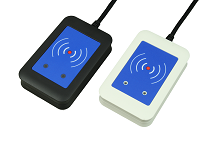 TWN4 MultiTech, Desktop RFID Reader, LF, HF, 13.56 MHz, 125KHz, 134.2 KHz,USB cable 2.0m, with integrated 13.56MHz + 125KHz  antenna
